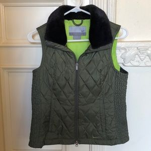 Nike quilted faux fur vest